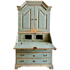 Period Gustavian Swedish Secretaire Cabinet