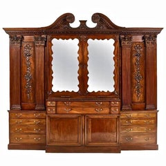 Period Irish Georgian Mahogany Breakfront , 18th Century