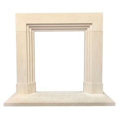 Period Limestone Art Deco Fireplace Surround