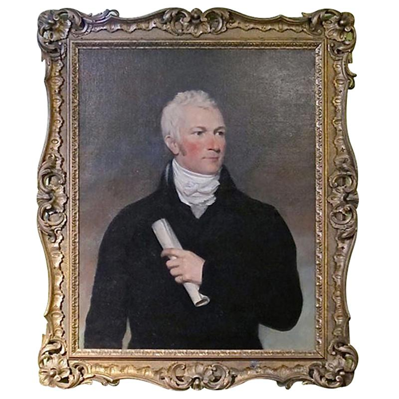 Period Portrait of a Handsome American Gentleman
