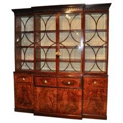 Period Regency Mahogany Breakfront Bookcase by Gillows