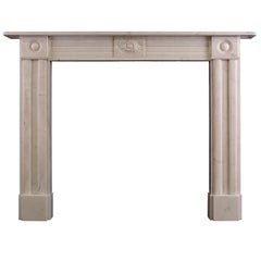 Period Regency Statuary Marble Fireplace