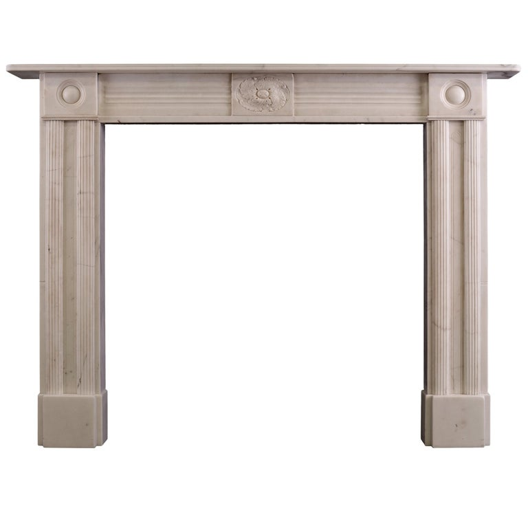 Period Regency Statuary Marble Fireplace For Sale