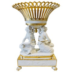 Period Sevres Early 19th Century Empire Neoclassical Porcelain Centerpiece