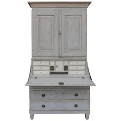 Period Swedish Secretary with Library Cabinet