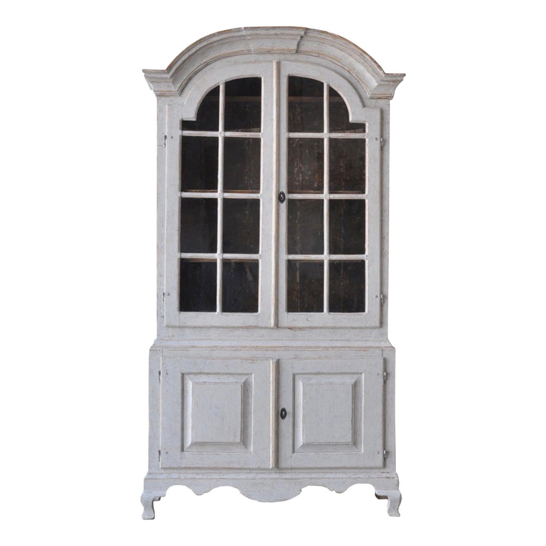Period Two Part Glazed Rococo Cabinet