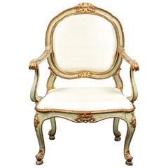 Period, Venetian, Painted Armchair