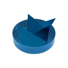 """Periquito"", Classic Blue Contemporary Geometric Coaster Set"