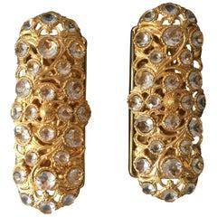 Peris Andreau Gold Toned Crystal Wall Lights