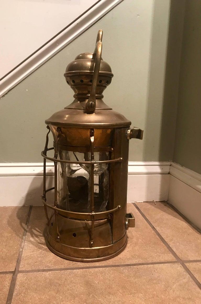 Brass ship standing light (lantern) marked
