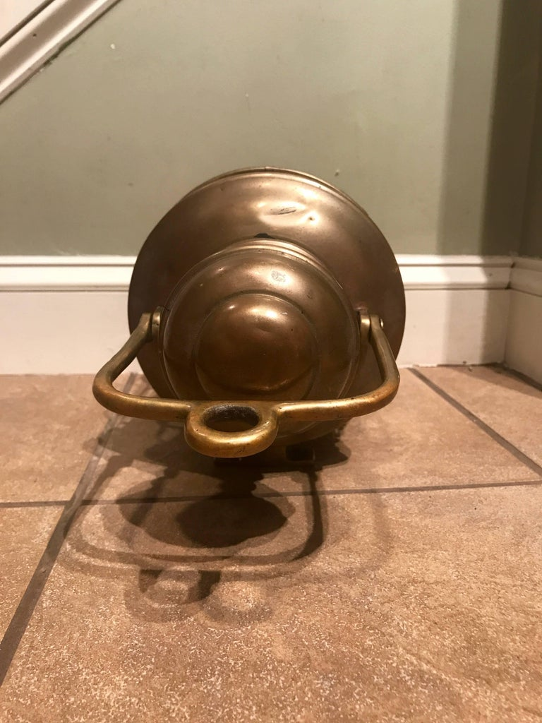 Early 20th Century Perkins Marine Brass Ship Standing Light, circa 1916 For Sale