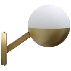 Perla Satinato Brass Wall Sconce