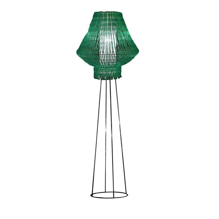 Italian Perle Galactica Beta Floor Lamp in Green For Sale