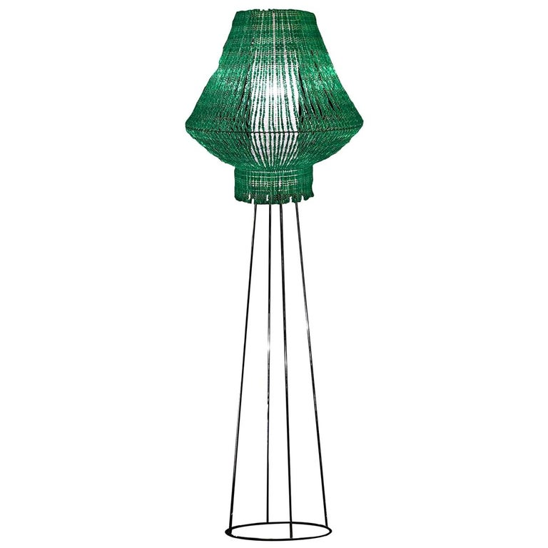 Perle Galactica Beta Floor Lamp in Green For Sale