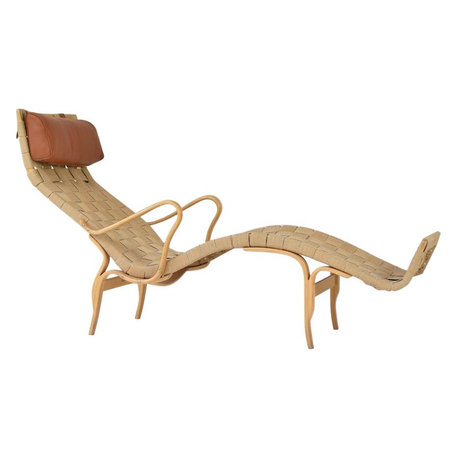'Pernilla' Chaise Lounge by Bruno Mathsson for Karl Mathsson, Sweden, 1963