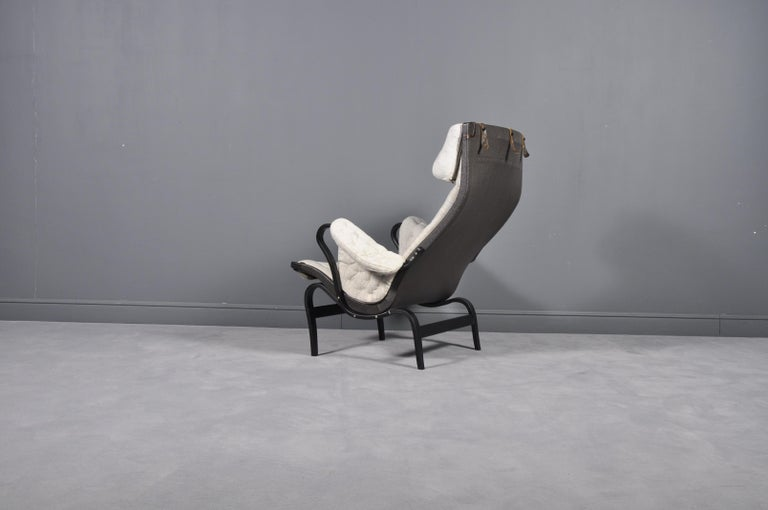 Scandinavian Modern Pernilla Lounge Chair by Bruno Mathsson for DUX, 1969s For Sale