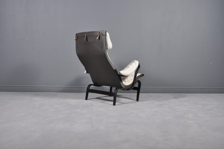 Pernilla Lounge Chair by Bruno Mathsson for DUX, 1969s In Good Condition For Sale In Bucharest, RO