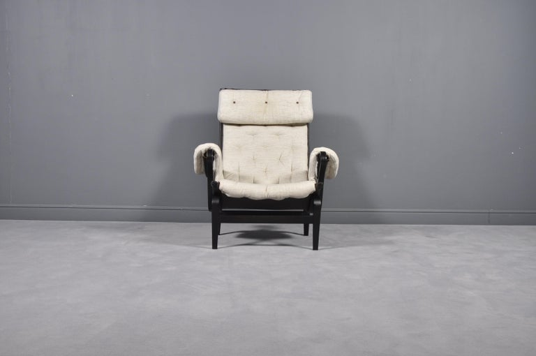 Mid-20th Century Pernilla Lounge Chair by Bruno Mathsson for DUX, 1969s For Sale