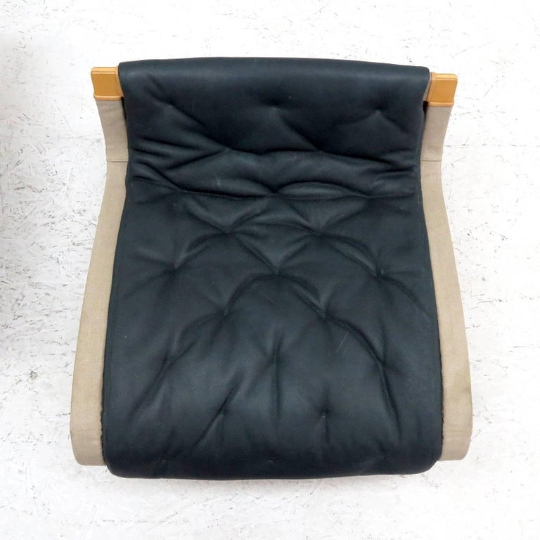 Pernilla Lounge Chair with Ottoman by Bruno Mathsson for DUX For Sale 3