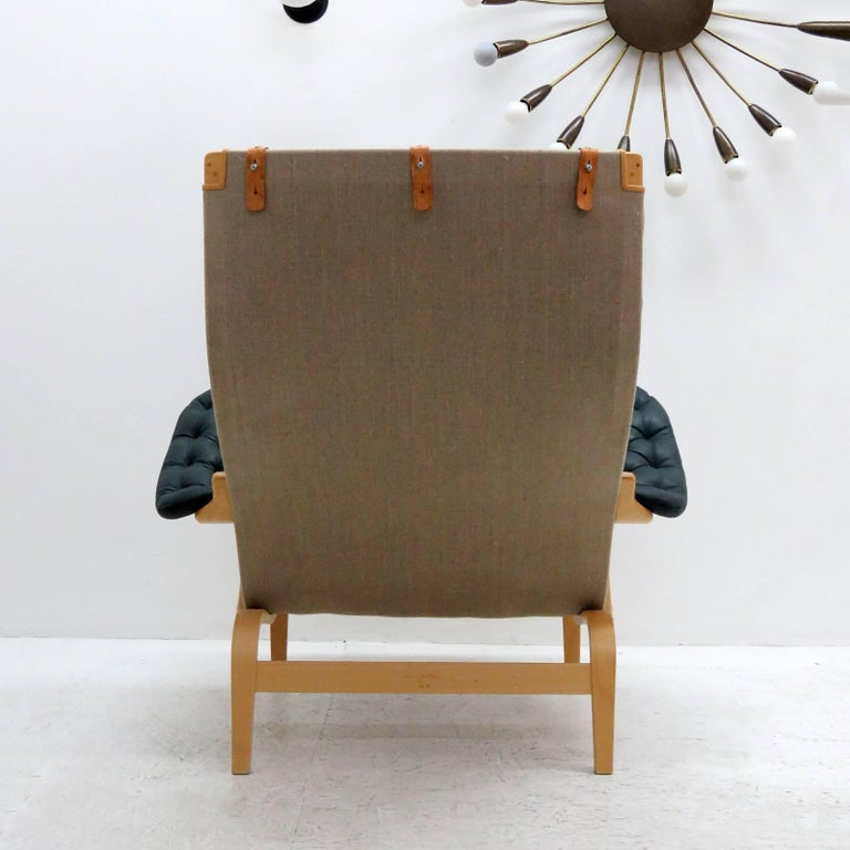 Late 20th Century Pernilla Lounge Chair with Ottoman by Bruno Mathsson for DUX For Sale