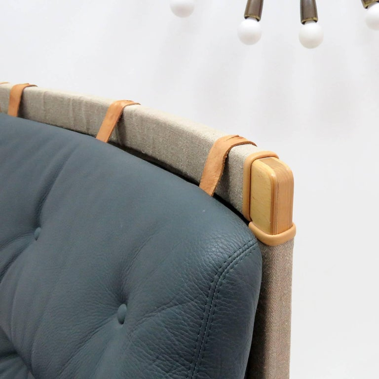 Pernilla Lounge Chair with Ottoman by Bruno Mathsson for DUX 1