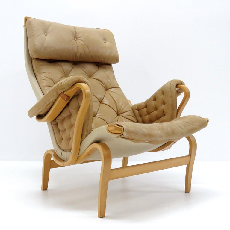 Swedish Pernilla Lounge Chairs by Bruno Mathsson for DUX For Sale