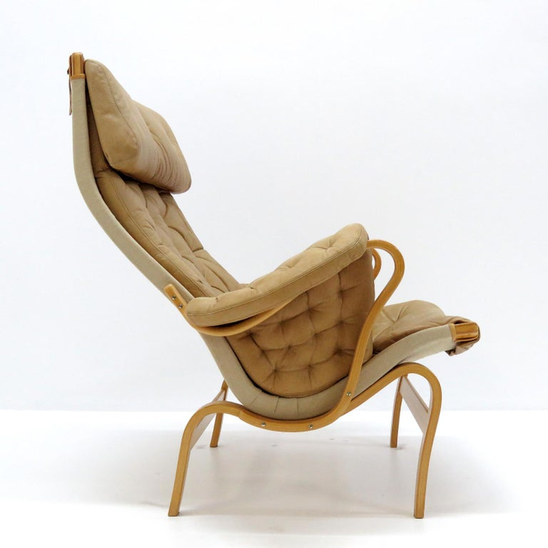 Molded Pernilla Lounge Chairs by Bruno Mathsson for DUX For Sale