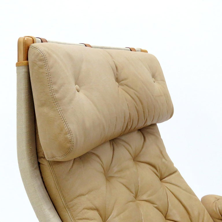 Pernilla Lounge Chairs by Bruno Mathsson for DUX For Sale 1