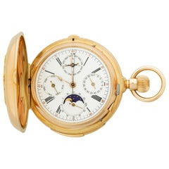 Perpetual Calendar Chronograph Pocket Watch by Redard & Co.