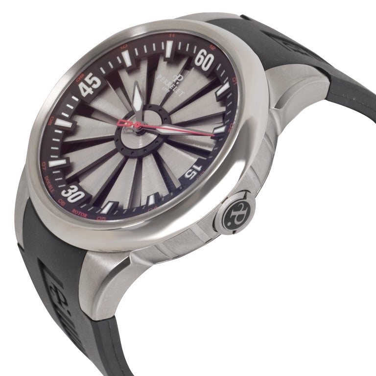 Perrelet Turbin A5006 Men's Watch in Titanium In Excellent Condition For Sale In New York, NY