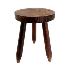 Perriand Style Tripod Stool