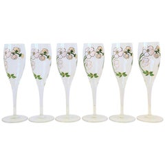 Vintage Perrier-Jouet French Champagne Glasses
