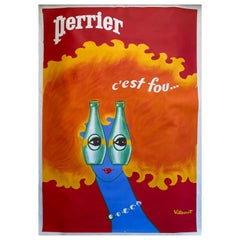 Perrier Poster by Villemot