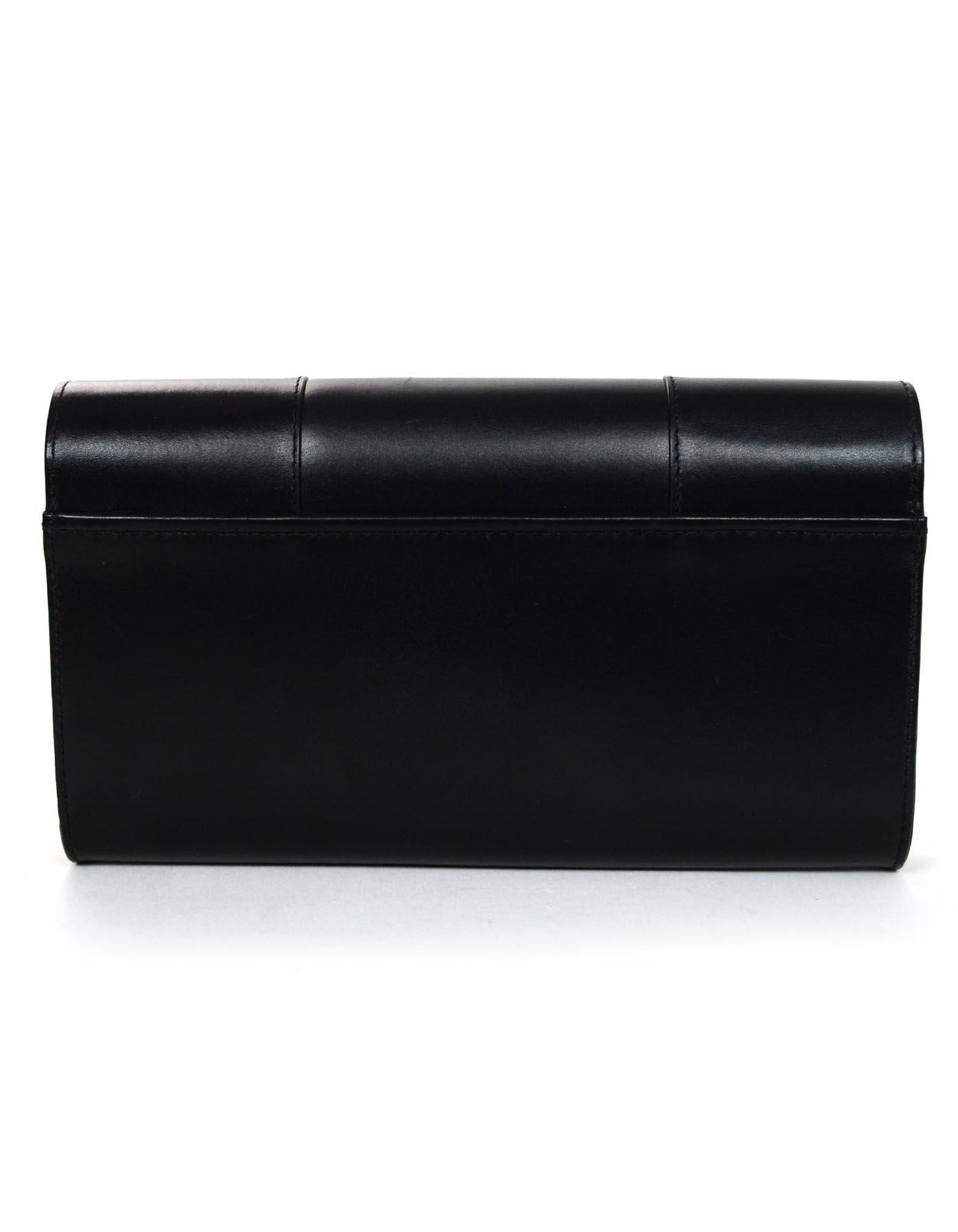 3fc69632f3 Perrin Black Calfskin Leather Goldtone L Eiffel Right Hand Glove Clutch Bag  For Sale at 1stdibs
