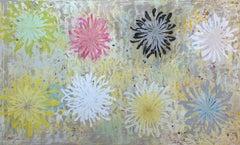 "Chrysanthemum Tapestry, oil on canvas, 51"" x 84"""