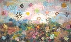 """Sky Garden, oil on canvas, 51"""" x 84"""""""