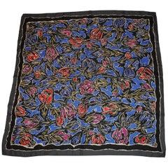"Perry Ellis ""Autumn Florals"" Silk Scarf"