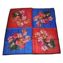 """Perry Ellis Elegant """"Bundles of Florals"""" Silk Scarf"""
