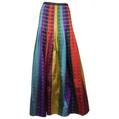 Perry Ellis Multicolor Silk Pleated Skirt - 8