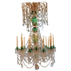 Perry & Parker Crystal Green Chandelier