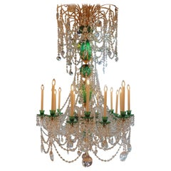 Superb Quality of  Perry & Parker Emerald Crystal English Chandelier