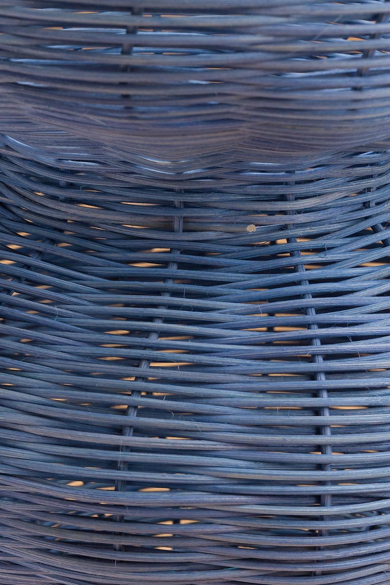 The Persephone Vase is hand dyed and woven with reed in our Chicago studio. Inspired by forms in ancient Greek ceramics, the material language of this vessel brings together the rich craft history of weaving with 3 dimensional form.   All of Studio