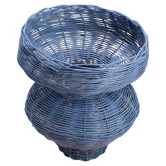 Persephone Vase Woven in Denim by Studio Herron