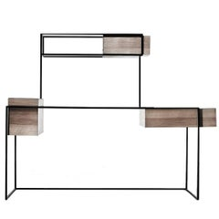 Persepolis Walnut and Iron Desk by Giacomo Moor