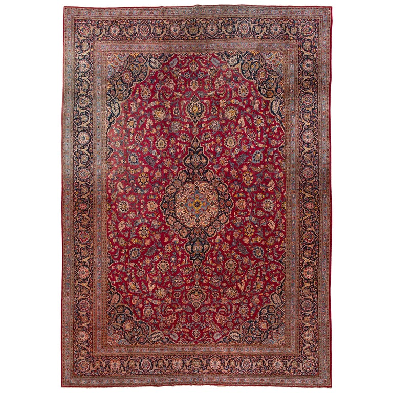 Persian Antique Kashan Rug For At