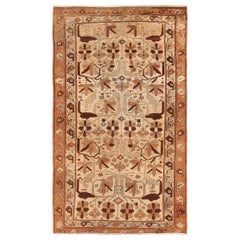 Small Size Persian Antique Malayer Carpet. Size: 3 ft 7 in x 6 ft