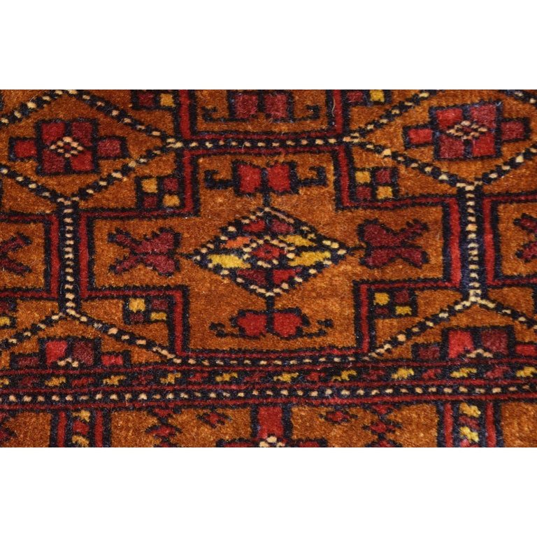 Persian Balouchi Carpet in Handspun Wool and Vegetable Dyes, circa 1930 In Good Condition For Sale In New York, NY