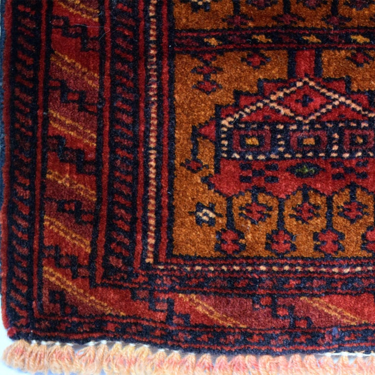 Mid-20th Century Persian Balouchi Carpet in Handspun Wool and Vegetable Dyes, circa 1930 For Sale