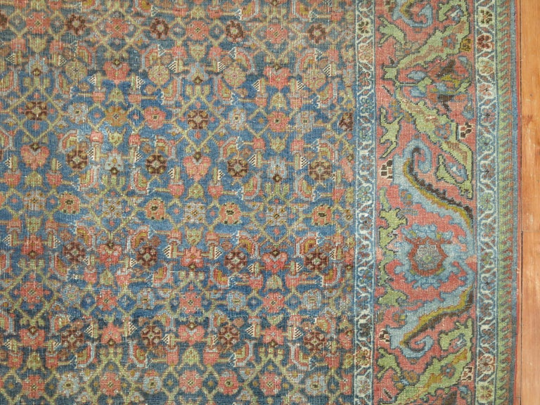 Hand-Knotted Persian Bidjar Rug For Sale