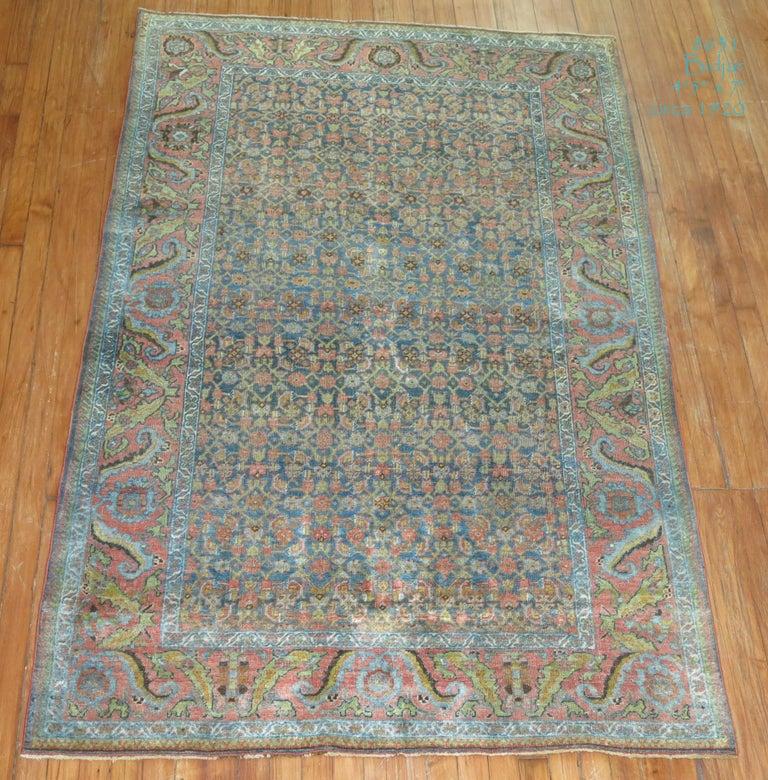 Wool Persian Bidjar Rug For Sale